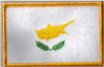 Cyprus Embroidered Flag Patch, style 08.